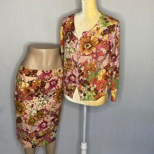 J.Crew Skirt & Top Set Floral Pattern SZ 10